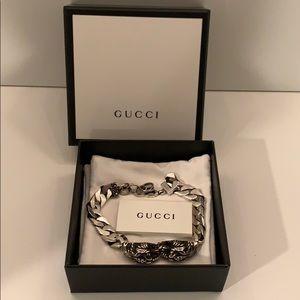 """Gucci Silver Vintage Tiger Bracelet 7.5"""""""